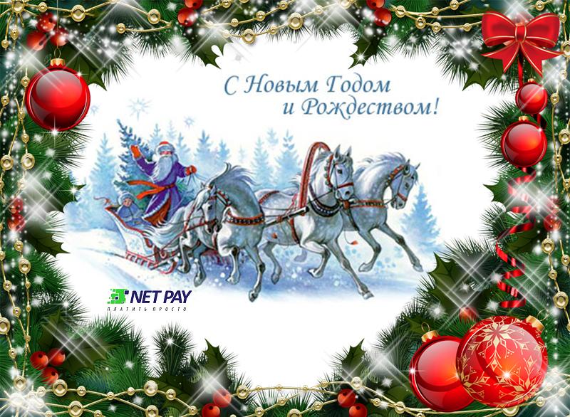 Компания Net Pay поздравляет всех с Новым годом и Рождеством!